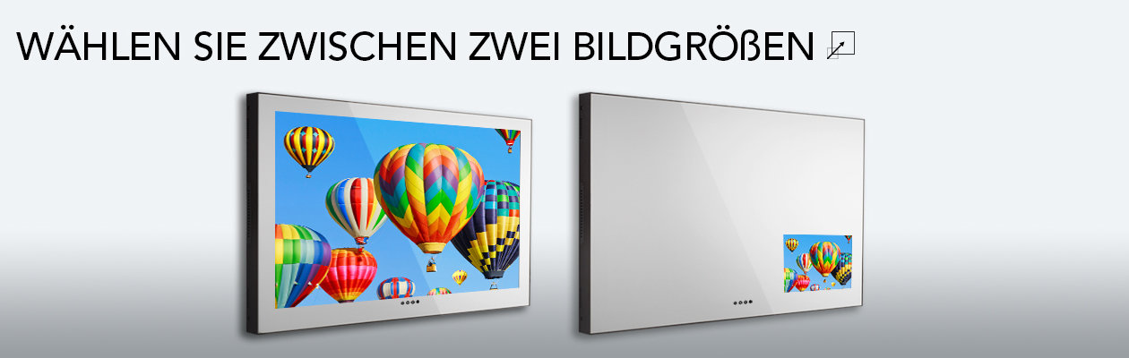 variable Bildgröße mit dem ASCENT Mirror TV