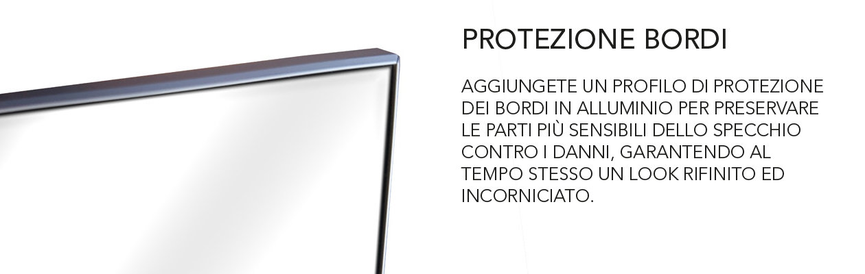 edge protection profile for mirrors