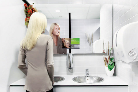 commercial Mirror TV
