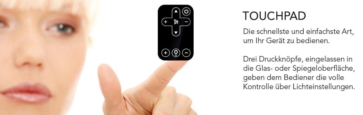 schnelle und einfache Bedienung mit dem Touchpad
